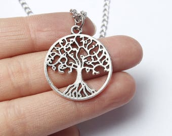silver Tree of life Necklace, Tree of life Necklace, Tree of life Necklaces, silver necklaces, silver necklace
