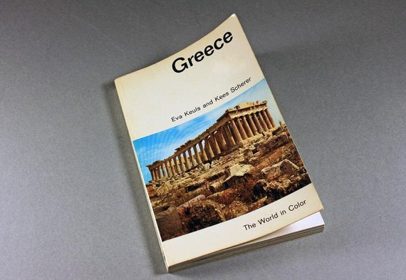 1966 Paperback, Greece, The World in Color, History Book, Travel Book, Reference Book