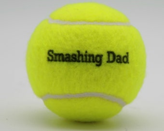 Smashing Dad Printed Tennis Balls