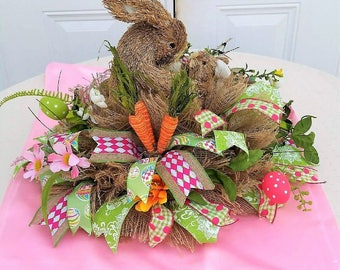 Bunny Table Arrangement - Easter Centerpiece - Easter Arrangement - Easter Home Decor - Easter Gift - Mother's Day Gift - Housewarming Gift