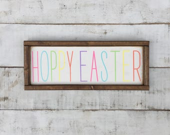 Easter sign/ easter/ wood signs/ signs/ spring/home decor/ easter decor/ farmhouse/ shabby chic/