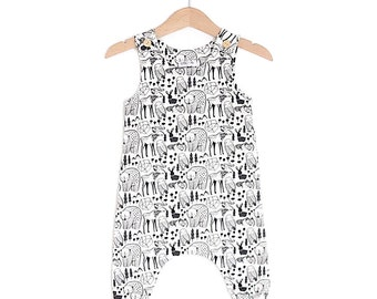 Nordic Animals Organic Cotton Baby Romper