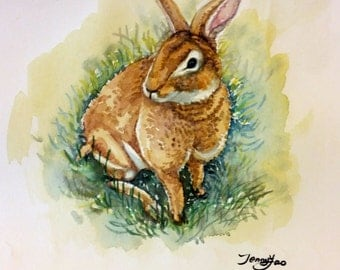 "Original Water color Painting, Rabbit, 10'x8"", 1701256"