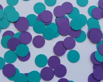 Purple and Teal Confetti... Party Decorations... Baby Girl... Baby Shower