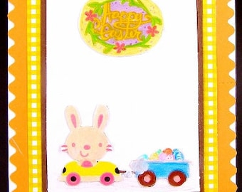Easter Bunny Card, Happy Easter Card, Easter Card
