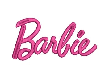 Barbie Logo Script (5x7) - Embroidery Machine Design