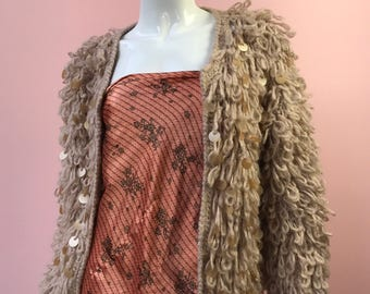 Wool Thread Jacket with Sequin Detail