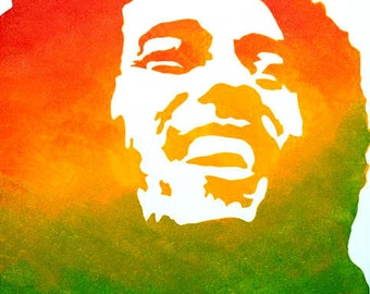 Bob Marley Acrylic Painting - Bob Marley Art - Bob Marley Wall Art - Bob Marley Decor - Bob Marley Painting - Rasta Man