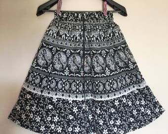 Black long Indian maxi Skirt Bollywood Skirt gypsy belly