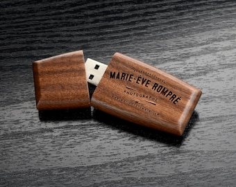 Set of 10 16GB Walnutwood 2.0 USB Flash Drive - Wildwood Body with Magnetic Cap - Personalized Wooden USB  - Laser Engrave your own design!