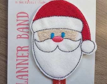 Santa Face Christmas Planner Band