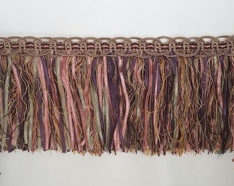pink, purple and sage green fringe trim