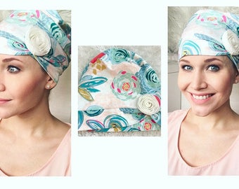 Picking Wildflowers Chemotherapy Hat