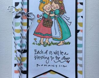 Scripture friendship card. Bible verse card.