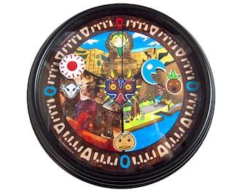 Legend of Zelda - Majora's Mask - 3D Wall Clock - Legend of Zelda Decor - Video Game Decor - Video Game Art - Geek Gift - College Dorm Decor