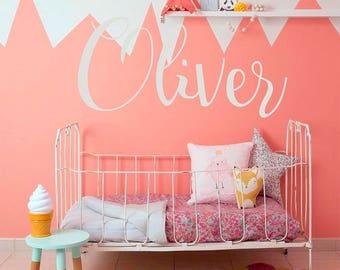 Create Your Own Name Wall Decal - Custom Vinyl Letters, Custom Vinyl Lettering Custom - Customized Children Name  #717C