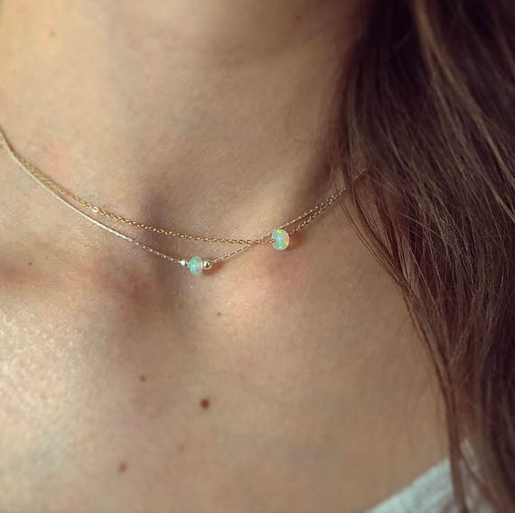 Natural Ethiopian opal bead necklace