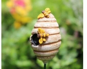 Fairy Garden  - Honey Beehive - Miniature