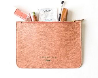 ANNE Coral beauty case,  handmade, luxury, designer, fashion, premium, tote, cosmeticbag