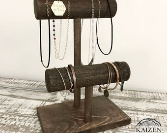 Rustic Jewelry Stand Etsy