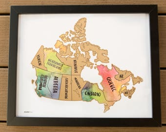 Scratch Your Travels Canada Map (11x14 in) Poster