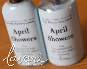 April Showers Lotion, Body Lotion, Hand Lotion, Aloe Vera Lotion, Natural Lotion, Floral Lotion, Homemade Lotion, Daily Moisturizing Lotion