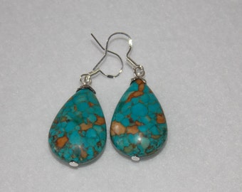 Turquoise Drop Earrings Handmade Gift