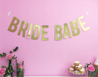 Hen Party Decoration - Bride Babe Custom Banner/ Personalised Banner / Wedding Bachelorette Photoshoot Party Banner