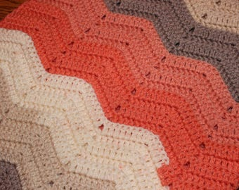 Baby Afghan - Crib Size Afghan - Crochet Baby Afghan - Baby Coverlet - Handmade Baby Afghan - Crochet Baby Coverlet - Baby Shower Gift