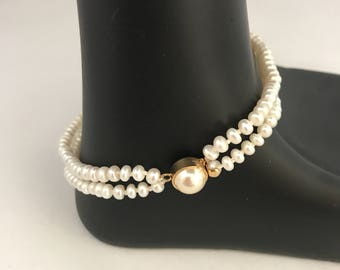 Freshwater Pearl bracelet, button pearl bracelet, bracelet pearl, pearl bracelet, wedding pearl bracelet, bridal bracelet