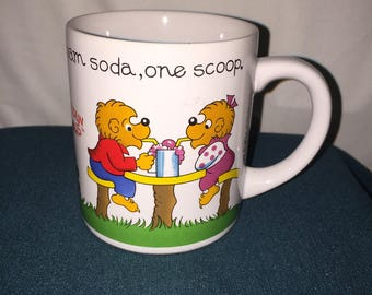 Berenstain Bears Cup; Vintage 1987 Princess House Berenstain Bears Coffee Cup; Highly