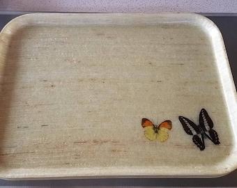 Mid Century Butterfly Tray Set of 4 Traymold Fiberglass Serving Trays El Monte CA USA