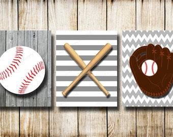 Attirant Vintage Baseball,Canvas Baseball Wall Prints,nursery Baseball  Ball,gray White Baseball