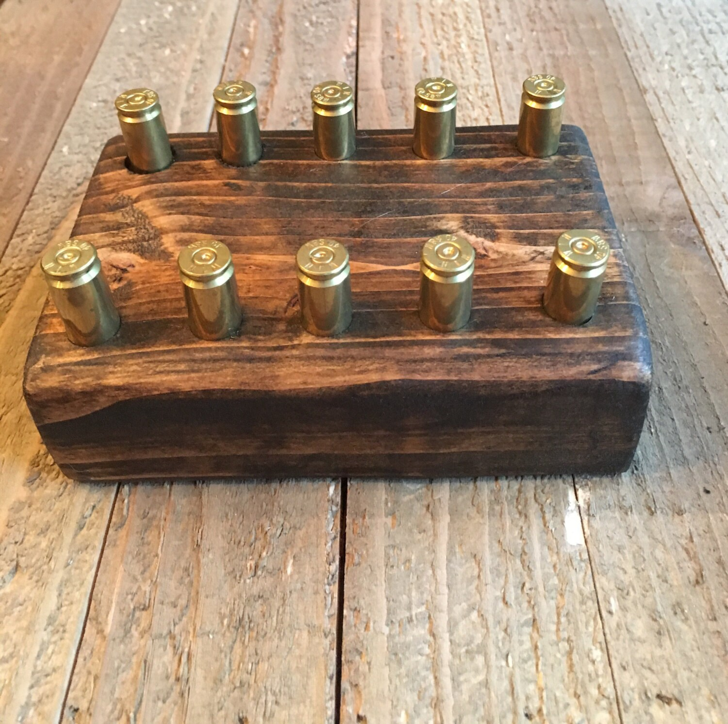 Bullet casing business card holder ~ handmade with expelled bullet ...