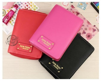 A7 zipped planner pink