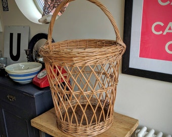 Vintage wicker basket (ref 1057)