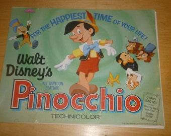 "Rare Complete Set of 8 Disney Pinocchio Lobby Cards 14"" x 11"""