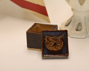 Small Owl Ring/Jewelry Box