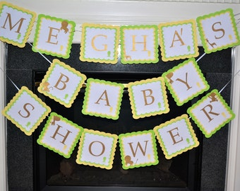 Safari Themed Baby Shower Banner
