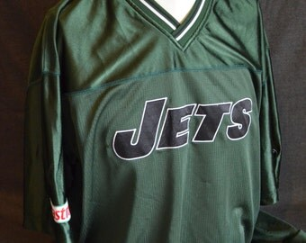 Vintage Castrol Promotional New York Jets Jersey Shirt (Size: One Size)
