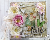 Shabby Chic Love Valentine's Day or Wedding Card