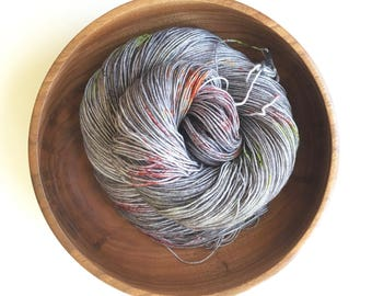 Zombie | Hand-dyed Speckled Yarn, 4ply Sock, 100% Superwash Extrafine Merino