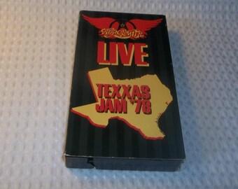 AEROSMITH VHS Texxas Jam 1978 Classic Live Concert Video Steven Tyler Joe Perry