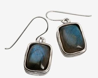 SHABLOOL earrings, women earrings, sterling Silver Earrings, labradorite earrings, gemstone earrings, earrings from Israel, dangle earrings