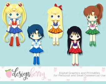 Sailormoon, clipart, vector, chibi, kawaii