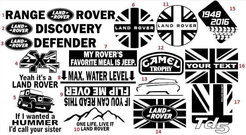 Lr Discovery 1 2 And Defender Owner S Club Offical Decal