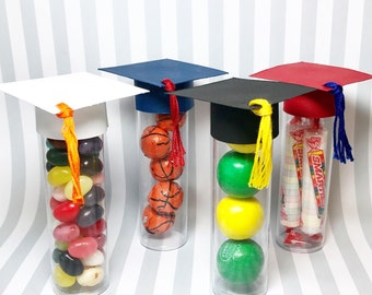 Graduation Favors - Graduation Cap Candy Tube, set of 10 - Candy Tubes - Party Favors - Graduation Party Decorations - Graduation Decor