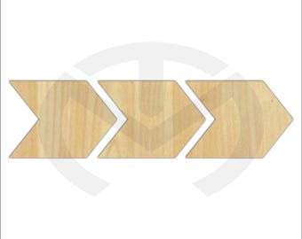 Unfinished Wood Arrows Laser Cutout, Home Decor, Tribal, Nursery Decor, Gallery Wall Accent