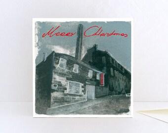 Christmas Card, Christmas Greetings from Edinburgh Printmakers, Merry Christmas from Scotland - Greeting Card