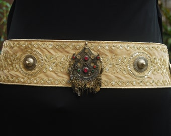 Tribal Fusion Antique Gold Belly Dance Belt